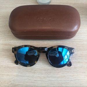 Illesteva Women Leonard Mirrored Round Sunglasses